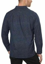 Freedom Foundry Men's Long Sleeve Navy Heather Flannel Button Up Shirt - L image 2