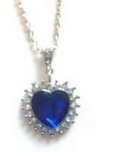 18K White Gold Plated Heart Swarovski Elements Crystal Necklace - $6.92