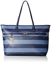 Tommy Hilfiger Helen Tote Top Handle Bag, Navy/French Blue, One Size - $97.02