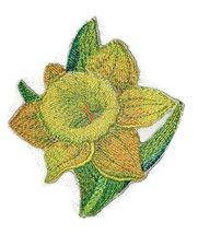 Custom and Unique Garden's Best Delight [Daffodil ] Embroidered Iron on/... - $6.92