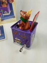 2005 Hallmark Pop Goes the Reindeer 3rd Jack-in-the-Box  Ornament Purple image 4