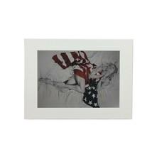 Damen USA Flagge Trudy Good Rot Weiß Kunst Bild Ungerahmt 30 X 40CM - $12.70