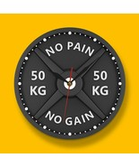 50KG Barbell Dumbbell Wall Clock Weight Lifting Load Bodybuilding Gym Decor - $44.77