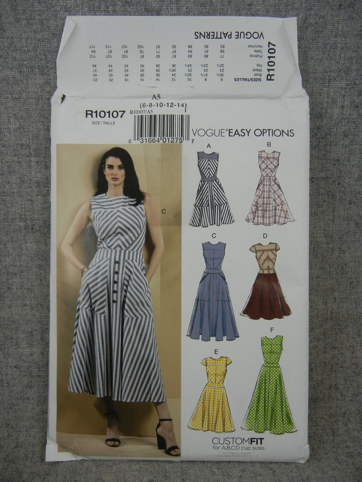 Primary image for Misses 6-14 Summer Dress Vogue R10107 / Vogue V9357 Custom fit for A-D cup size