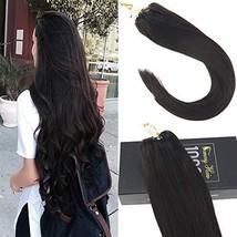 Sunny Ring Loop Hair Extension-50Strands Full Head Darkest Brown Col #2-Micro Li