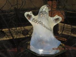 Fenton Art Glass White French Opalescent Boo Ghost. - $99.99