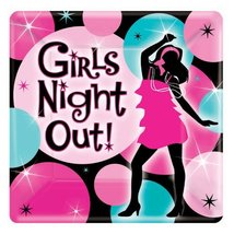 Bachelorette Girls Night Out Square Dessert Plates - $2.99