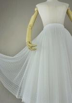 White Polka Dot Tulle Skirt White Ballerina Tulle Skirt Outfit image 3