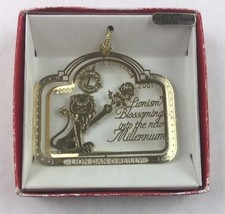 Nations Treasures Lion Dan O'Reilly Governor 00-01 Brass Metal Souvenir Ornament - $15.00