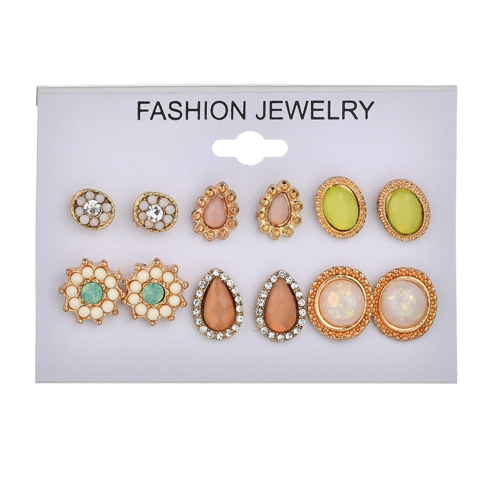 BAHYHAQ - 12 Earrings Set for Women Gift jewelry set fashion jewlery