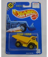 Hot Wheels Dump Truck #38 Speed Points Blue Card CTY Yellow w/ Dump Bed ... - $10.99