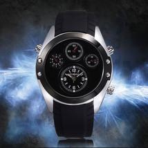 Curren Stylish Quartz Wrist Watch For Men Fashion Black Silver - $9.86