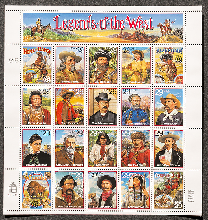 Legends west 29 stamps