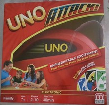UNO Attack Electronic Family Game Mattel Card Shooter Exclusive Attack C... - $29.69