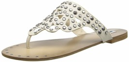 Not Rated Make it Rain Studded Crystals Summer Thong Sandals Beach Slippers NIB