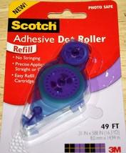 Scotch   STICKY DOT ROLLER REFILL CARTRIDGE ~ 49 ft.~ NIP   Scrapbook Cr... - $4.74