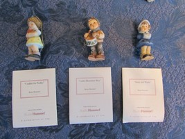 Studio Hummel Goebel Berta Hummel Set of 3 Christmas Ornaments COA Set 8... - $24.87