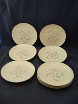 "8 Homer Laughlin Rythm Capri 6 1/8"" Bread Dessert Plates Mid-Century Modern - $18.95"