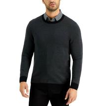 Tasso Elba Mens Crewneck Sweater Charcoal Black Size XXL NWT - $31.67