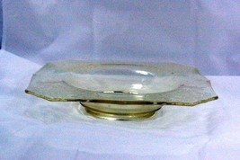 Paden City 1930 Gothic Garden Yellow Square Footed Console Bowl - $34.64