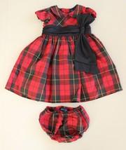 Ralph Lauren Girl's Dress Sz 12 M Red & Black Tartan Plaid Crinoline Hol... - $29.67