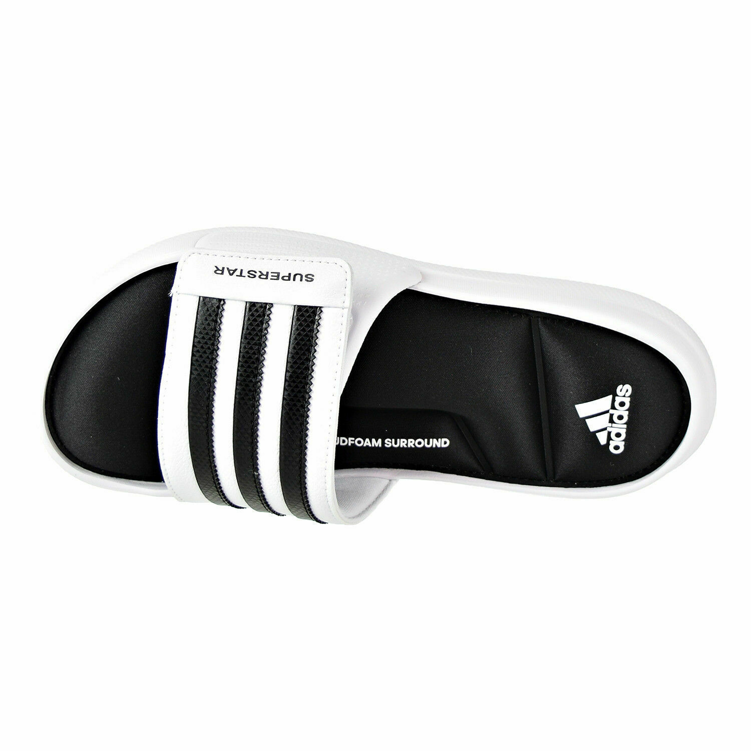 ADIDAS SUPERSTAR SURROUND MEMORY FOAM SLIDE SANDALS MEN SHOES MILK SIZE 15 NEW image 2