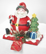 "6"" Tall Chubby Santa Claus Christmas Stocking Holder Hanger Shelf Sitter - $19.75"