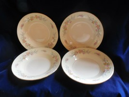 "Homer Laughlin Eggshell Georgian ""Cashmere""  4 Flat Rim Soup Bowls - $12.82"