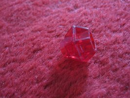 1981 DragonMaster Board game piece: Red Ruby Jewel - $3.00