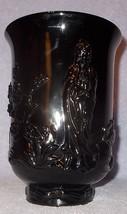 Fenton Black Glass Repousse Burmese Mandarin Vase Ca. 1977 - $49.95
