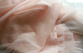 Women Blush Tulle Skirt Full Long Tulle Skirt, Blush Pink, High Waisted, Wedding image 7
