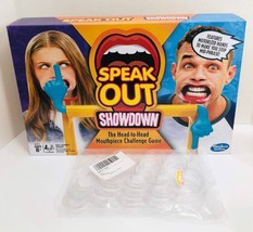 Speak Out Showdown Hasbro Board Game with Extra Mouthpieces Included! - $17.75