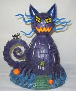 Hawthorne Nightmare Before Christmas Blacklight Village Piece ~ Cat House - $84.15