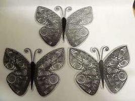 3 pc Butterfly Cake Plaque Toppers Birthday Party Black - $12.00