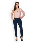 Rider Republic Women's Blue Flat Front Stretch Pant  - $36.00