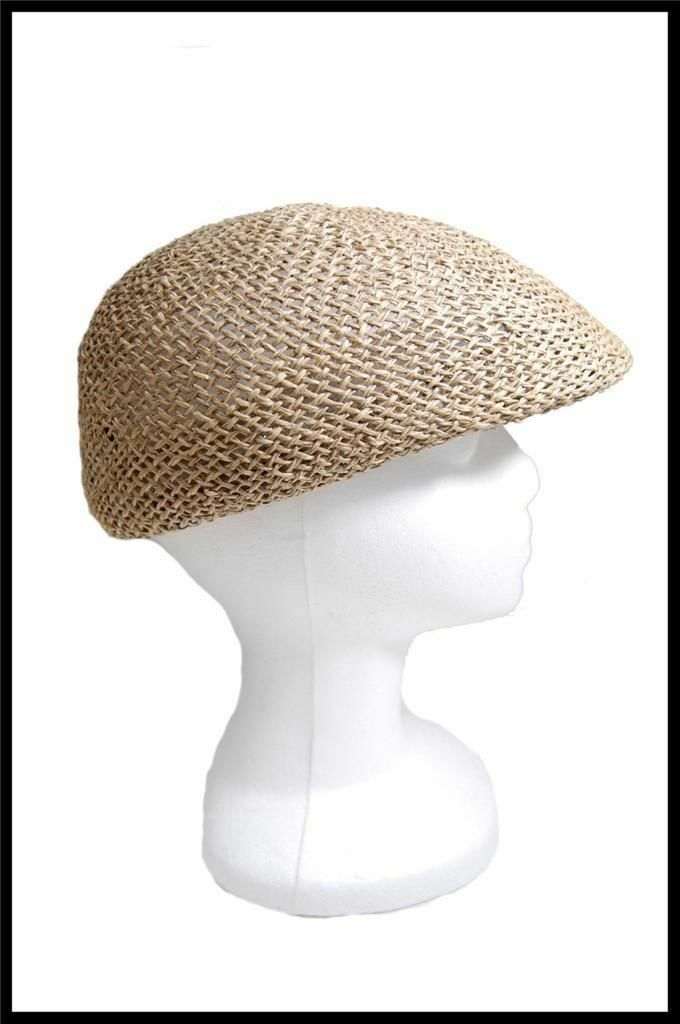 NEW Dorfman Pacific Company Straw Type Summer Hat All Natural Fibers Tan, White image 5