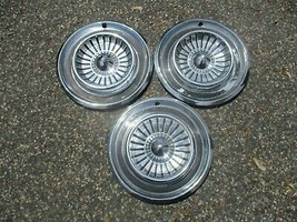 lot of 3 factory 1958 Chrysler New Yorker Windsor 14 inch hubcaps wheel covers - $88.48