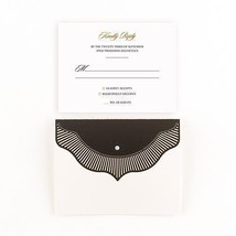 High Style in Black with Crystal Laser Embossed Accessory Cards with Per... - $6.99