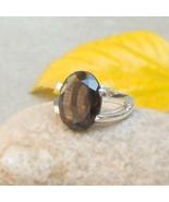 Smoky Quartz Ring Prong Ring smokey Quartz Rings Solitaire Ring Sterling... - $65.00