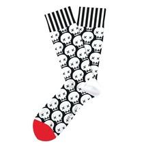 Graveyard Shift Skulls Fun Novelty Socks Two Left Feet Med/Lge Dress SOX... - $10.49