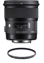 Sigma 24mm F1.4 Dg Hsm Art For Canon With Hoya 77mm Pro 1D Protector - $980.99