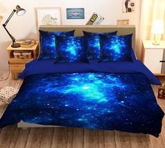 3D Blue Stars Light 26 Bed Pillowcases Quilt Duvet Single Queen King US Summer - $102.84+