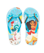 Moana Flip Flops Size 9/10 11/12 13/1 or 2/3 Disney Store Seashells Beads - £8.52 GBP