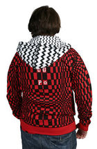 UGP Under Ground Products DIY Men's Red Checkered Zip Up Hoodie NWT image 4