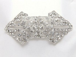 Vintage Style Rhinestone Crystal Wedding Bridal Sash Hook and Eye Clasp - $8.99