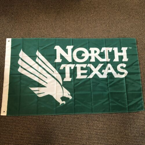 UNT North Texas Mean Green Eagles Flag New 3x5 FT Metal Grommets  - $24.74