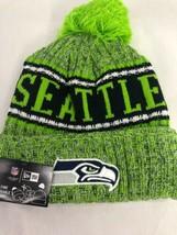 96c576d89486dc Seattle Seahawks New Era Knit Hat On Field 2018 Sideline Beanie Warm Winter  - $29.69