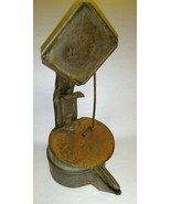 Antique Hand Forged Cruise Double Pan Betty Whale Oil Grease Lamp - £72.33 GBP