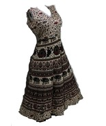 TRADITIONAL ONE PIECE WOMEN'S TUNIC DRESSES INDIAN STYLE HANDMADE PRINTE... - $16.74