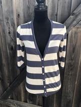 splendid Women's Stripped Blue And Cream Top Size Xs G11 - $9.50